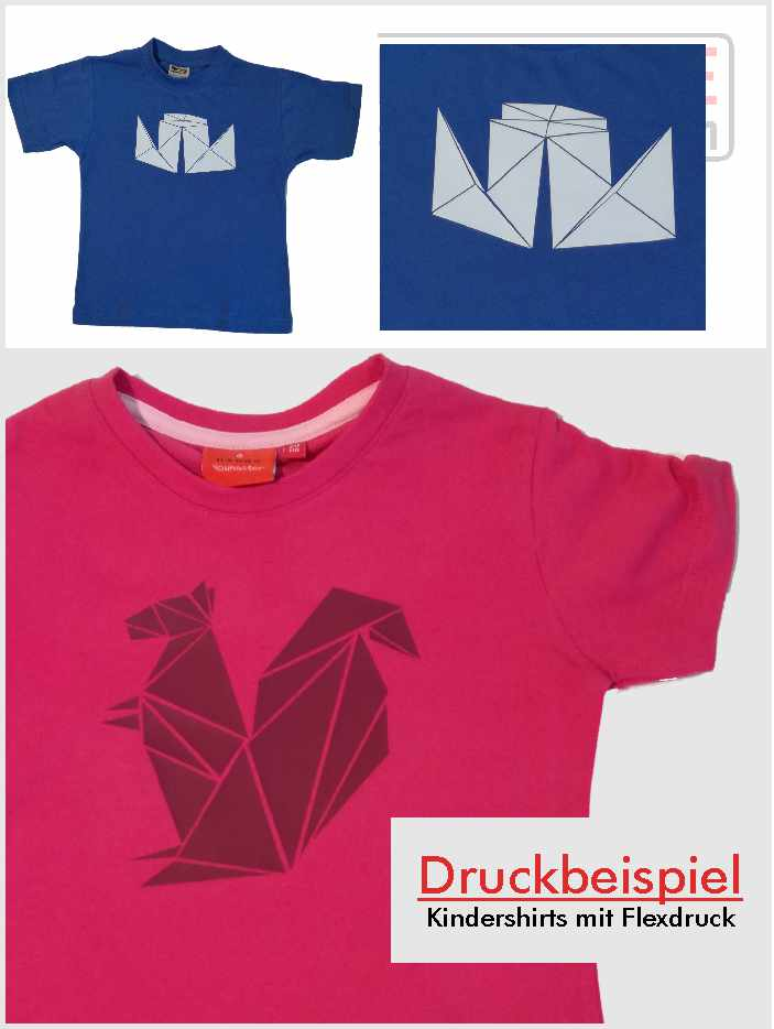 Kindershirts mit Flexdruck