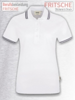 Women-Poloshirt Twin-Stripe