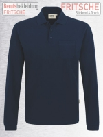 Longsleeve-Pocket-Poloshirt Top