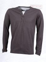 Men's Henley Shirt Long-Sleeved