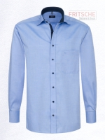 Hemd Chambray Comfort-Modern Fit Patchung